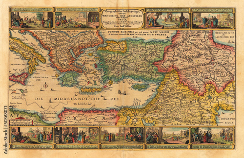 Holy Land old map - 50368071