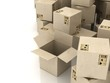cardboard boxes B3-d visualization