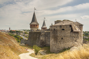 Castle in  Kamianets Podilskyi, Ukraine, Europe.