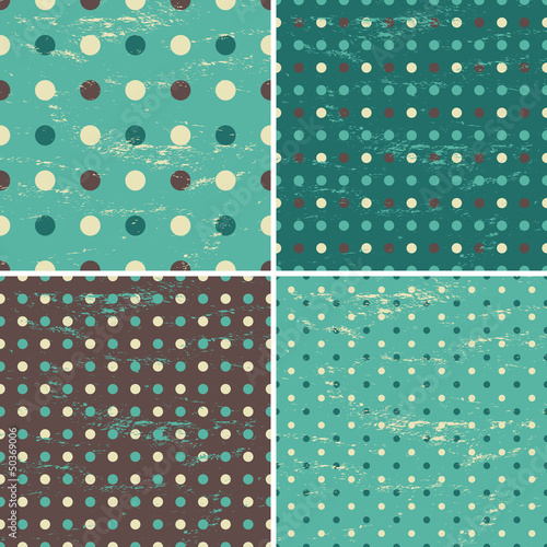 Seamless Polka Dot Patterns Collection