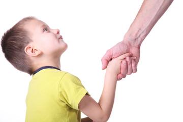 Begrüssung mit Handschlag