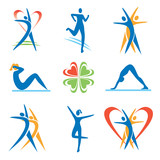 Fototapety Fitness_healthy_ lifestyle _icons