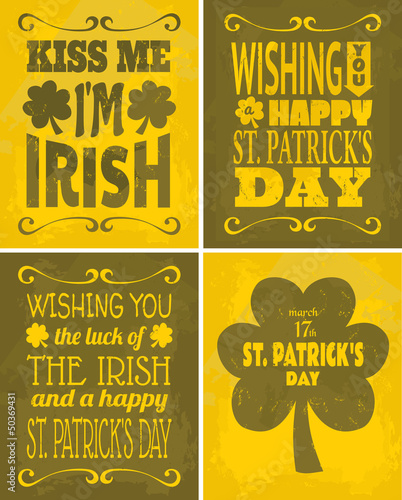 St. Patrick's Day Cards Set