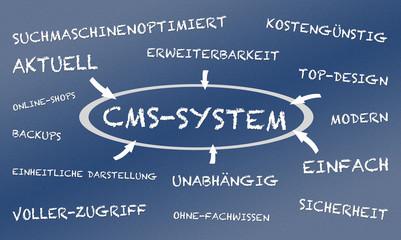 CMS SYSTEM Blau