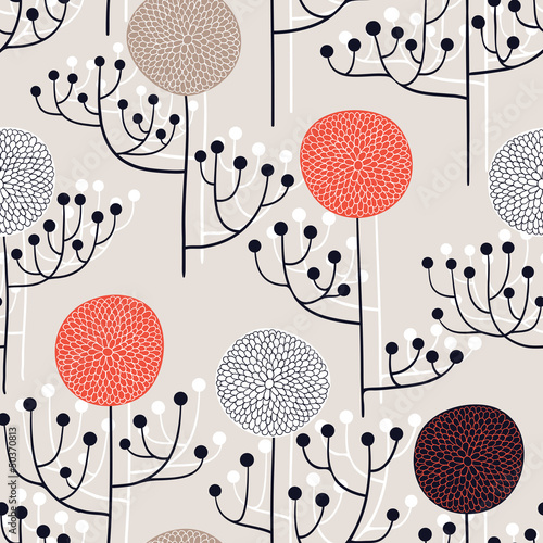 Abstract seamless floral pattern © tets
