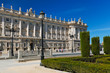 Royal Palace and park at Madrid Spain