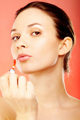Girl with lipgloss