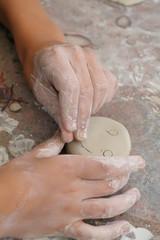pottery child