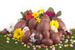 heap of chocolate easter eggs