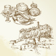 Italy, Tuscany - hand drawn collection