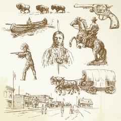 wild west - hand drawn set