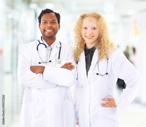African American Man and Woman Medical Workers