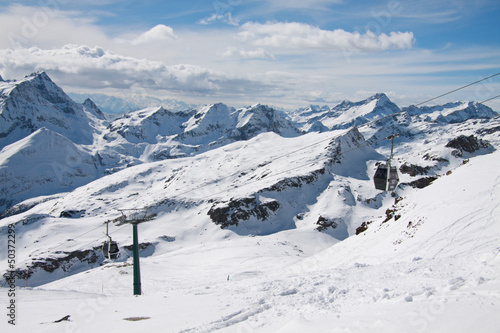 Poster Heuvel panorama dal passo Salati (Monte Rosa)