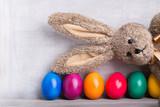 bunte eier und osterhase - Fine Art prints