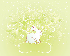 Easter card with rabbit