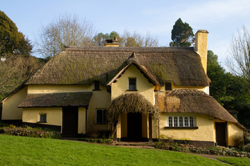 English Thatched Cottage Selworthy Somerset