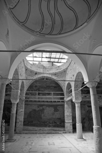 christian church interior at sirince turkey
