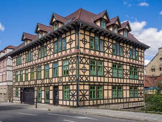 Ein Fachwerkhaus in Meiningen.