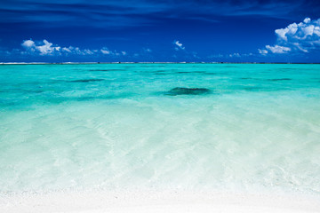 Tropical ocean with blue sky and vibrant ocean colors