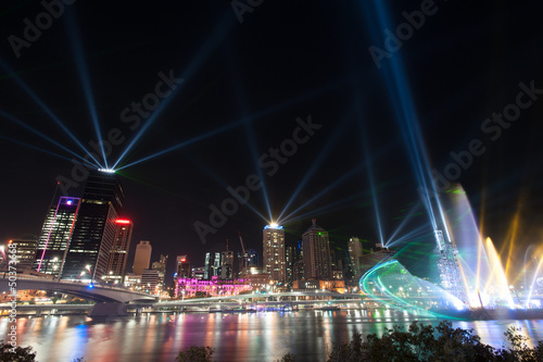 Brisbane city, Australia - Santos Light Show