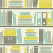 Seamless Bookshelves Pattern