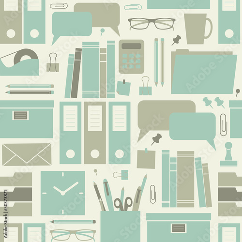 Wall mural Seamless Office Pattern