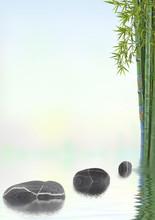 pas japonais, bambou, détente, relaxation