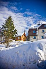 village Harrachov  in wintertime, Czech Republic