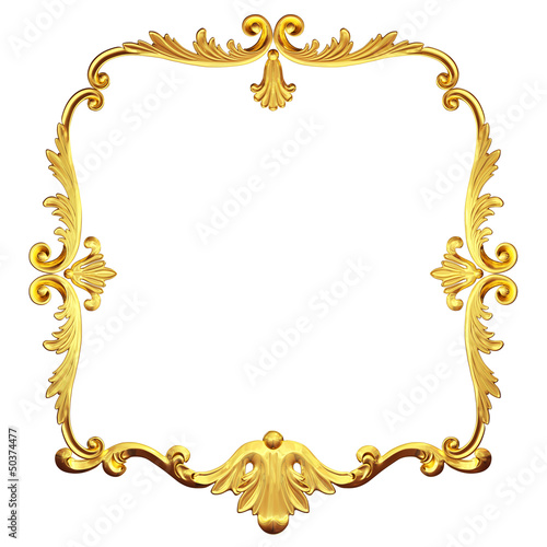 gold retro frame