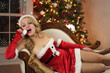 Playful Santa Girl