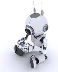 Robot Playing Computer Games