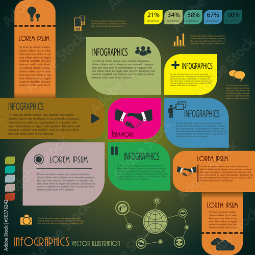 Infographics. Design template. Vector illustration