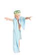 Мальчик в плавках и маске с полотенцем