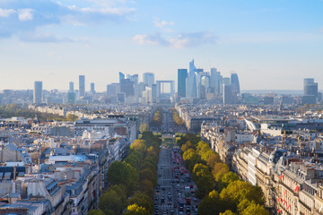 skyline of Paris, France