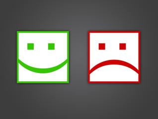 smiley heureux / malheureux
