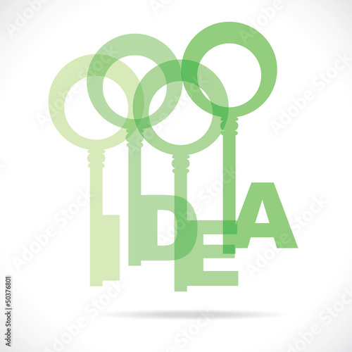 green idea word key concept