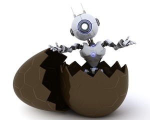 Robot in an Easter Egg