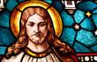 witraż z Jezusem