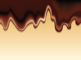 Vector background with a flowing hot chocolate