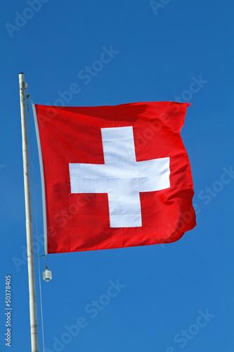 Schweizerfahne Hochformat
