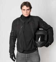 Biker in black