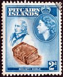John Adams and Bounty Bible (Pitcairn islands 1957) poster