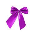 Violette Bandschleife