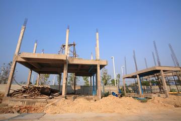 Building infrastructure under construction