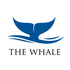 Vector logo whale