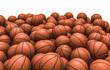 Постер, плакат: Basketballs pile
