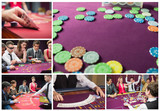 Collage of casino imagery