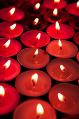 Red candles lighting up the dark