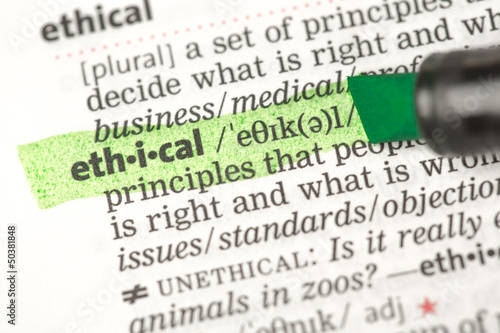 Ethical definition highlighted in green