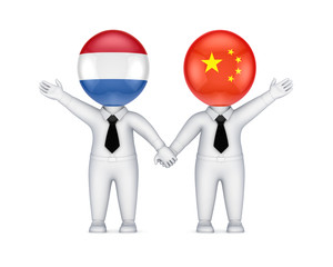 Dutch-Chinese cooperation concept.